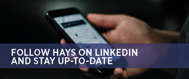 Follow Hays on LinkedIn